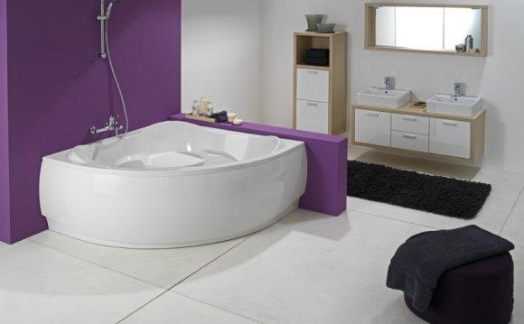 Угловая ванна — функциональное