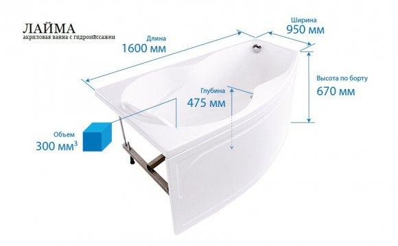 Triton Лайма акриловая ванна
